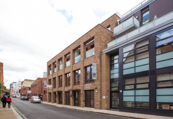 4 story brick building on a quiet road a few minutes from Southwark tube station
